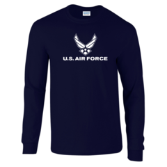 US Air Force Navy Blue Long Sleeve T-Shirt - Free Shipping