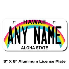 Personalized Hawaii 3 X 6 License Plate