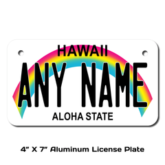 Personalized Hawaii 4 X 7 License Plate