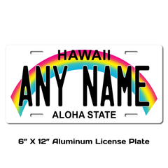 Personalized Hawaii 6 X 12 License Plate