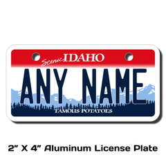 Personalized Idaho 2 X 4 License Plate