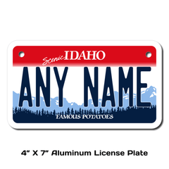 Personalized Idaho 4 X 7 License Plate