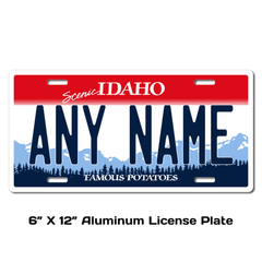 Personalized Idaho 6 X 12 License Plate