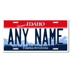 Personalized Idaho License Plate for Bicycles, Kid's Bikes, Carts, Cars or Trucks