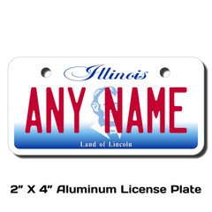 Personalized Illinois 2 X 4 License Plate