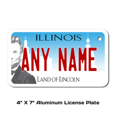 Personalized Illinois 4 X 7 License Plate