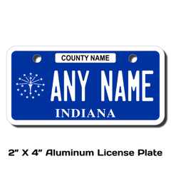 Personalized Indiana 2 X 4 License Plate
