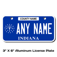 Personalized Indiana 3 X 6 License Plate
