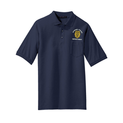 Port Authority� Silk Touch� Polo with Pocket - Law Enforcement badge Embroidery