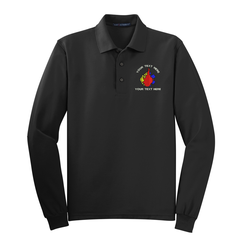 Firefighter Custom Embroidered Logo Long Sleeve Knit Shirt
