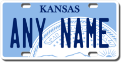 Personalized Kansas License Plate for Bicycles, Kid's Bikes, Carts, Cars or Trucks