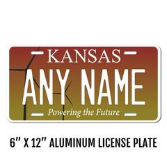 Personalized Kansas 6 X 12 License Plate