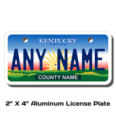 Personalized Kentucky 2 X 4 License Plate
