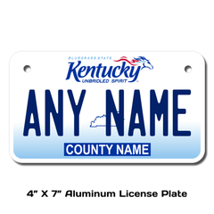 Personalized Kentucky 4 X 7 License Plate