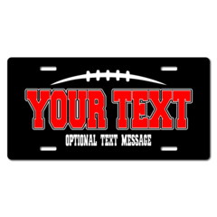 Personalized Football License Plate for Bicycles, Kid's Bikes, Carts, Cars or Trucks