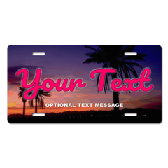 Personalized Palm Trees License Plate for Bicycles, Kid's Bikes, Carts, Cars or Trucks