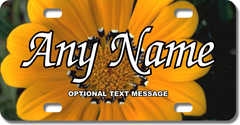Personalized Sunflower License Plate for Bicycles, Kid's Bikes, Carts, Cars or Trucks