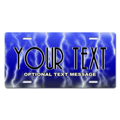 Personalized Blue Electricity License Plate for Bicycles, Kid's Bikes, Carts, Cars or Trucks