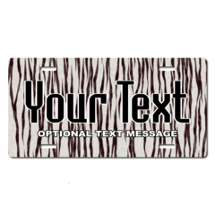 Personalized White Tiger License Plate for Bicycles, Kid's Bikes, Carts, Cars or Trucks