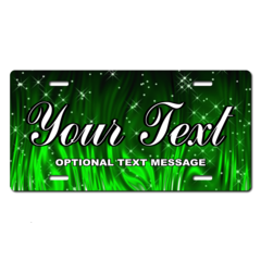 Personalized Green Sparkles License Plate for Bicycles, Kid's Bikes, Carts, Cars or Trucks