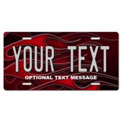 Personalized Red Flames License Plate for Bicycles, Kid's Bikes, Carts, Cars or Trucks