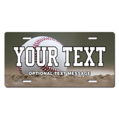 Personalized Baseball License Plate for Bicycles, Kid's Bikes, Carts, Cars or Trucks