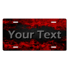 Personalized Red and Black Distressed License Plate for Bicycles, Kid's Bikes, Carts, Cars or Trucks