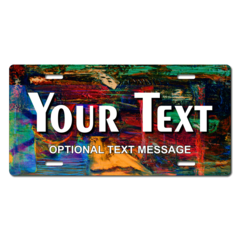 Personalized Abstract Painting License Plate for Bicycles, Kid's Bikes, Carts, Cars or Trucks