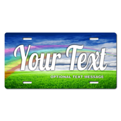Personalized Rainbow License Plate for Bicycles, Kid's Bikes, Carts, Cars or Trucks