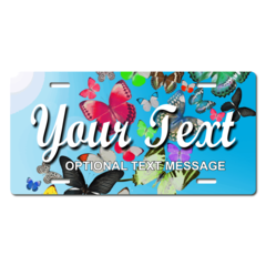 Personalized Butterflies License Plate for Bicycles, Kid's Bikes, Carts, Cars or Trucks