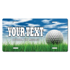Personalized Golf License Plate for Bicycles, Kid's Bikes, Carts, Cars or Trucks