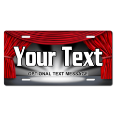 Personalized Theatre Stage License Plate for Bicycles, Kid's Bikes, Carts, Cars or Trucks