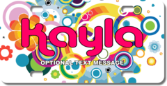 Personalized Psychedelic License Plate for Bicycles, Kid's   Bikes, Carts, Cars or Trucks