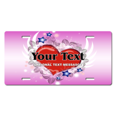 Personalized Flying Heart License Plate for Bicycles, Kid's   Bikes, Carts, Cars or Trucks