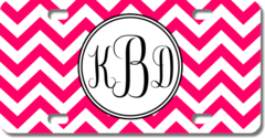 Personalized Chevron Monogram License Plate for Bicycles, Kid's Bikes, Carts, Cars or Trucks