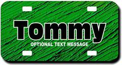 Personalized Green License Plate for Bicycles, Kid's Bikes, Carts, Cars or Trucks