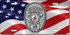 Custom American Flag Law Enforcement License Plate (PLP004)