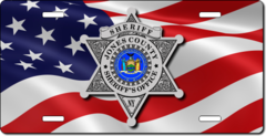 Custom American Flag Law Enforcement License Plate PLP010