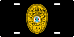 Custom Law Enforcement License Plate PLP015