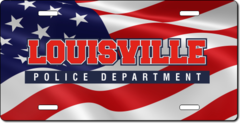Police Department Customized Patriotic License Plate