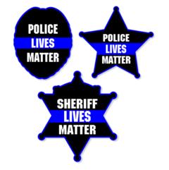 Police Lives Matter Blue Line Badge Decal