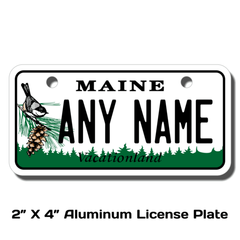 Personalized Maine 2 X 4 License Plate