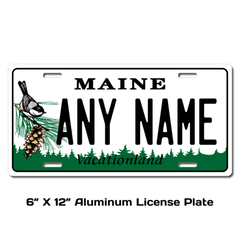 Personalized Maine 6 X 12 License Plate