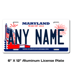 Personalized Maryland 6 X 12 License Plate