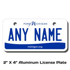 Personalized Michigan 2 X 4 License Plate
