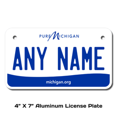 Personalized Michigan 4 X 7 License Plate