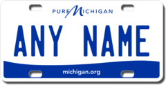 Personalized Michigan License Plate for Bicycles, Kid's Bikes, Carts, Cars or Trucks