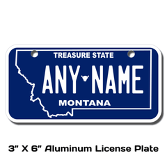Personalized Montana 3 X 6 License Plate