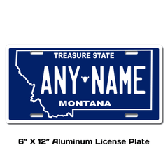 Personalized Montana 6 X 12 License Plate