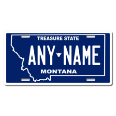 Personalized Montana License Plate for Bicycles, Kid's Bikes, Carts, Cars or Trucks